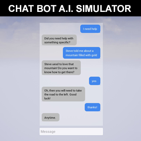 A 100% Blueprint driven Conversation Bot that simulates communication with Artificial Intelligence.