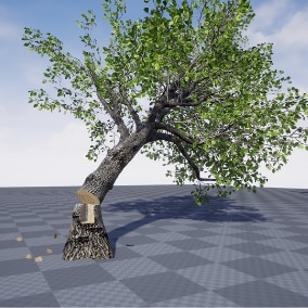 Customizable Choppable & Interactive Trees based on destructible mesh - replicated
