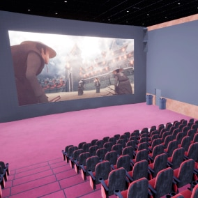 Cinema hall - interior and props