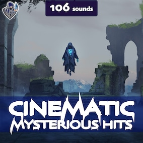 A sound pack of cinematic sound effects of mysterious hits, designed in a dark style.