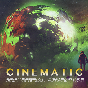 Cinematic Orchestral Adventure features 5 Epic Adventure music tracks with both orchestral and digital elements. Dynamic and thematic music arranged with full orchestra, powerful choir, heavy percussion, and synths.
