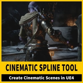 An easy tool to create cinematic scenes in your game without the need for Dealing with Sequencer or blueprints.