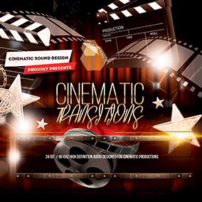 'Cinematic Transitions' by Cinematic Sound Design delivers a collection of more than 100 high-definition, hand-crafted transition sound effects.