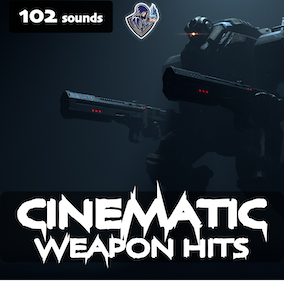 A sound pack of cinematic sound effects of weapon hits, designed in a dark style.