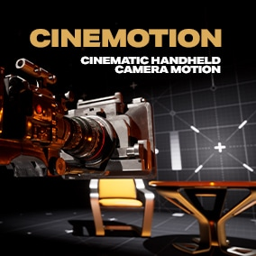 Created from real camera motion, CineMotion is a library of 120 virtual production camera clips to quickly add realism to UE4 sequences. From subtle idle layers to wild roaming motion, pans, reveals and more.
