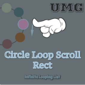 Circle Loop Scroll Rect is a UMG widget that makes UI items loop infinitely along an arc or a circle track. The User of this component can have a content list with arbitrary length.