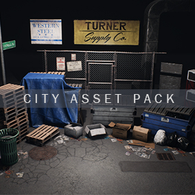 An Asset Pack containing a collection of realistic city props.