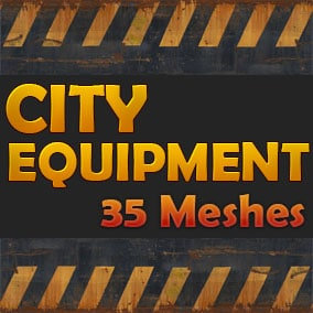 35 Meshes City Equipment