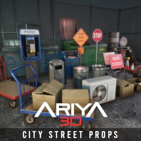 A collection of high quality City Street inspired props optimized for use in games!