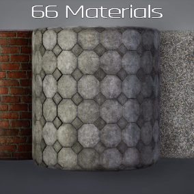 A collection of 66 tiling materials for city exterior