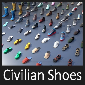 This is a package which contains 50+ variations of a wide range of civilian footwear