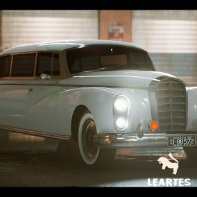 Classic Limousine Driveable / Animated / Realistic / Customizable, Fully Customizable with separate Parts / Blueprints / Material Instances