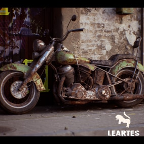 Classic Motorbike Driveable / Animated / Realistic / Customizable, Fully Customizable with separate Parts / Blueprints / Material Instances