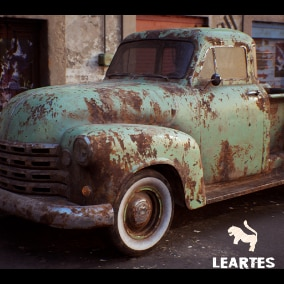 Classic Pickup Truck Driveable / Animated / Realistic / Customizable, Fully Customizable with separate Parts / Blueprints / Material Instances