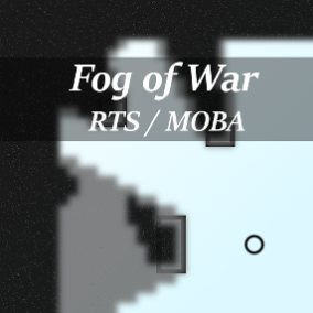 Classic tile-based Fog of War system commonly used in RTS, MOBA and similar multiplayer games.