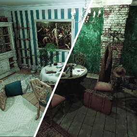 This package contains about 400 assets to create you own interior, for your games.