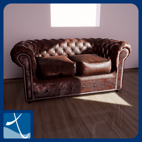 Classic sofas pack with armchair
