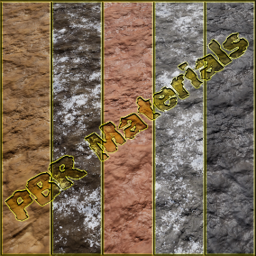 PBR material with high resolution (4096x4096): Clay materials consisting of 20 units.