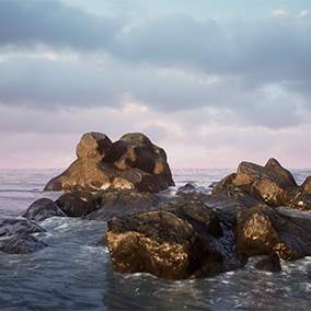 Rocks and cliffs pack for modular organic designs