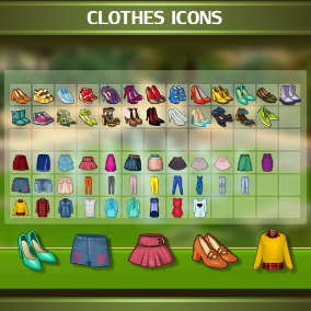 A set of 106 Clothes Icons.