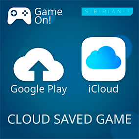 Cloud Saved Game adds ability to save game to Google Play (Android) or iCloud (iOS)