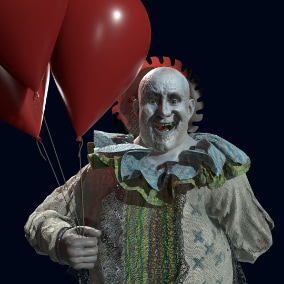 A colorful clown character for your project. Optimized ready for your project.