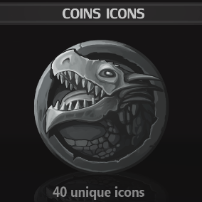 A set of 40 hand drawn Coins Icons.