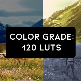 120 LUTs for enhancing the atmosphere and tone in your projects.