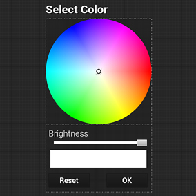 Simple solution for Color picker and HUE picker in-game widgets