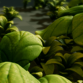 Collection of stylized and colorful plants.