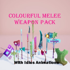 Colourful stylized fantasy weapons for your projects.