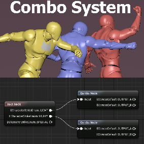 Custom graph editor to create trees of combos and an actor component to utilize them during runtime