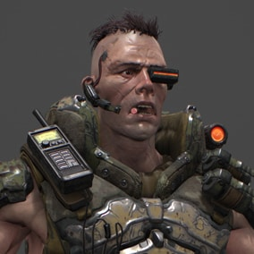 Future heavy armored commando soldier
