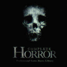 Create fear... Complete Horror is a professional game music library featuring ambient textures, drones, loops and scares for creating atmosphere and tension in horror games.