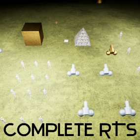 Complete RTS is a real-time strategy template with a lot of features inherent in this game genre, and is a great start for creating your own game.