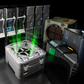 Science fiction computer equipment, several of the items have multiple screen variations.