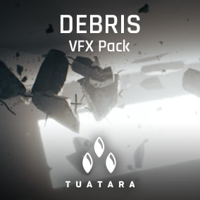 Production ready concrete debris VFX pack with multiple handy use-case examples.