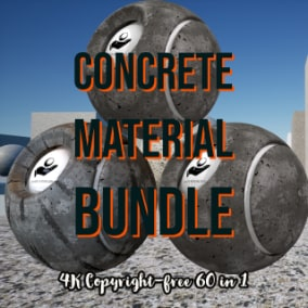 4K Concrete Material Collection includes 60 different 4K concrete textures.
