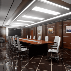 High quality ArchViz conference room.