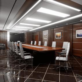 High quality ArchViz conference room.