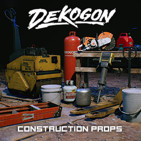 A Collection of Construction Supplies, Building Materials, and Various Props