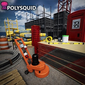 Realistic construction site props and Crane