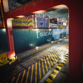 Container Yard set contains variations of sea port containers with different material colors and port assets to create variable environments.
