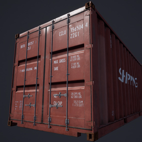 Containers, 6 Meshes with LOD's, custom colors.