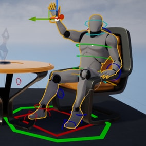 This sample project demonstrates an example Control Rig for Unreal Engine 4's default mannequin.