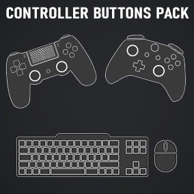 400+ controller icons for PC, PS and XB in two themes.