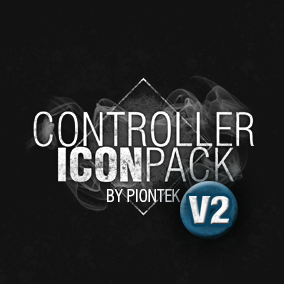 A package of +140 game-ready Icons for Gamepads, Keyboards & Mouse