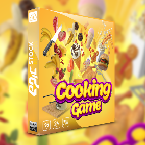 Cooking Game is here with a stunning collection of game sound effects that features a curated palette of vibrant audio cuisine, bubbly mobile game sound and cute heartwarming SFX.