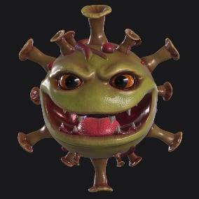 Virus Monster Head