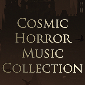A collection of otherworldly and unnerving music, evoking a strange cosmic horror mood. This music mixes electronic and orchestral elements to create a rich hybrid sound that is certain to immerse players into a dark new world.
